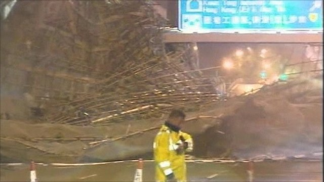 Storm damage in Hong Kong