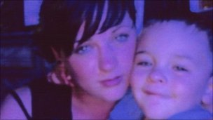 Abby Podmore with her son Alfie