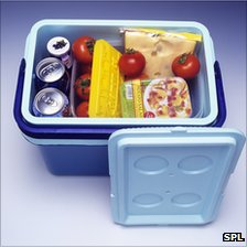 Picnic in a coolbox