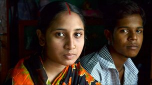 A 14-year-old child bride and her 19-year old-husband