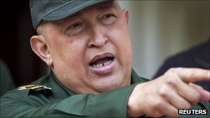 Venezuelan President Hugo Chavez in photo from 17 September 2011