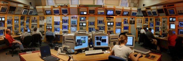 Main control room Fermilab