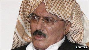 President Ali Abdullah Saleh. 25 Sept 2011