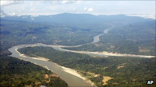 In this photo taken on Dec. 7, 2009, the Irrawaddy River runs through Kachin State, northern Myanmar