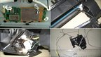 Undated photo released by the Dubai Police on 30 October 2010, claims to show parts of a computer printer with explosives loaded into its toner cartridge