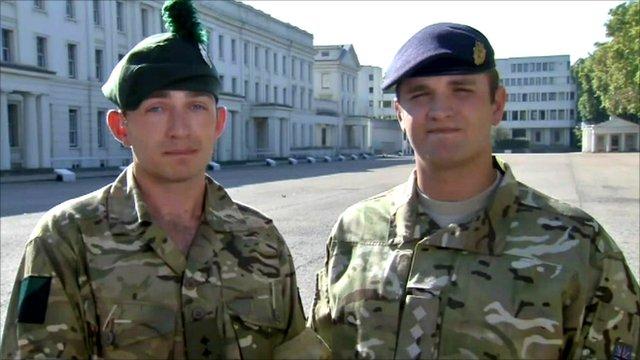 Lt Paul McFarland and Capt Michael Lowry