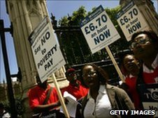 Low pay demonstration - file pic