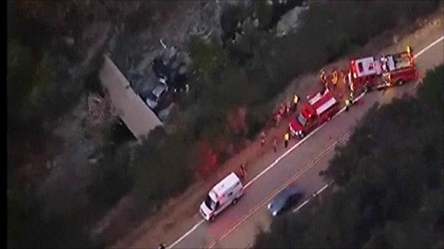 Car crash in a ravine