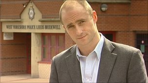 Mark Daly outside Bridewell Police station in Leeds