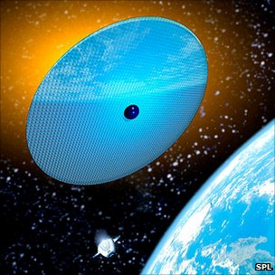 Artist's conception of space sunshield