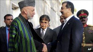 President Karzai meets Pakistan PM Gilani