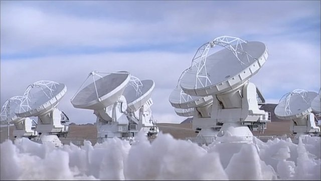 The world's most powerful radio telescope in Chile's Atacama desert