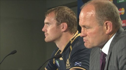 Scotland captain Al Kellock (left) and head coach Andy Robinson