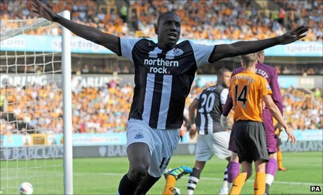 Newcastle striker Demba Ba