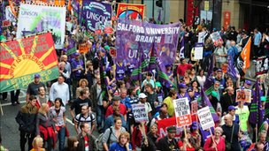 TUC march Manchester