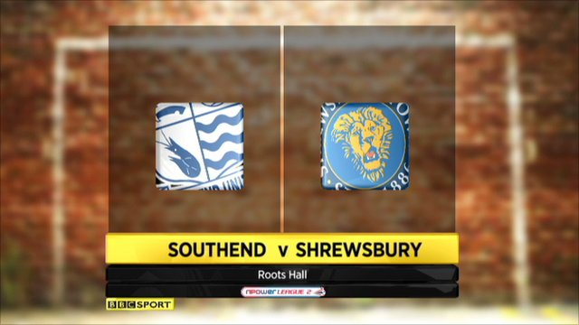 Southend 3-0 Shrewsbury