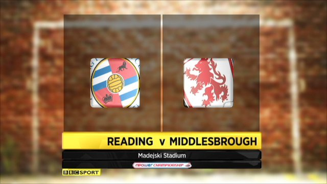 Reading 0-0 Middlesbrough