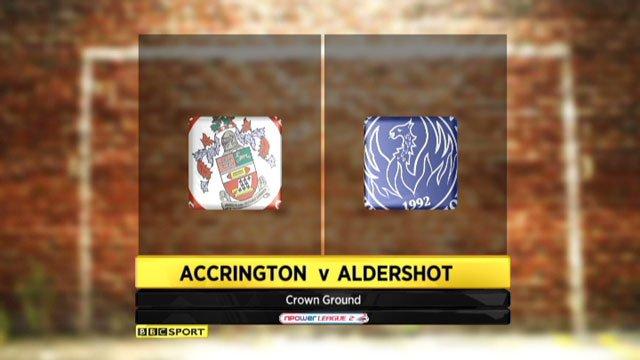 Accrington v Aldershot