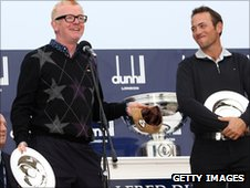 Chris Evans and Nick Dougherty after winning the pro-am competition