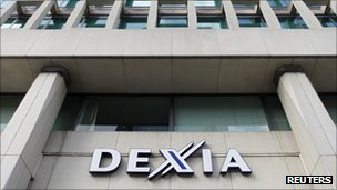 Dexia logo on office building