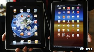 Apple iPad and Galaxy Tab