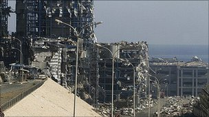 Cyprus&#039; Vasiliko power station, damaged by a blast at the nearby Evangelos Florakis naval base in July 2011