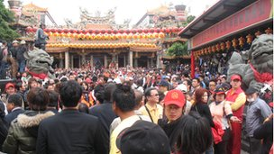 Mazu festival in Taiwan