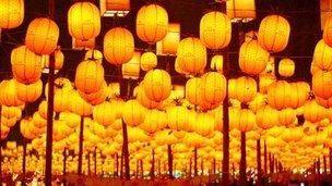 Lanterns at Taiwanese festival