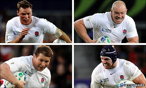 Clockwise from top left: Chris Ashton, Mike Tindall, James Haskell and Dylan Hartley have made headlines in New Zealand