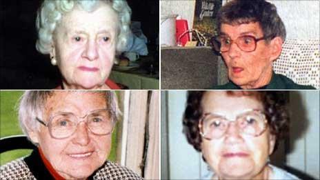 Clockwise, from top left: Bridget Bourke, Irene Crooks, Doris Ludlam and Ethel Hall