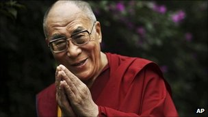Dalai Lama in Dharamsala, northern India (July 2011)