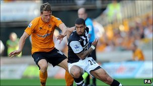 Wolves v Newcastle in the Premier League