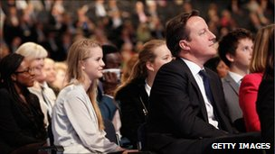 David Cameron in the audience