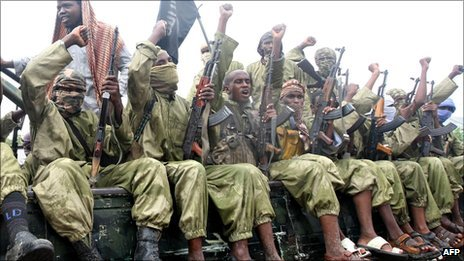 Al-Shabab fighters photographed in October 2009