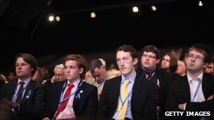 Young delegates at the Conservative conference