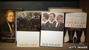 Books on sale at Conservative conference