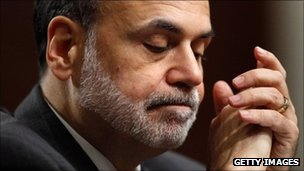 Ben Bernanke giving testimony to Congress