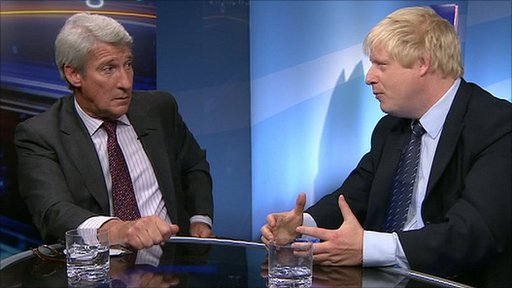 Jeremy Paxman and Boris Johnson