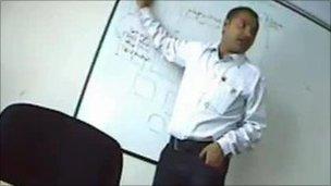 Lecturer Surya Medicherla was secretly filmed advising students how to cheat