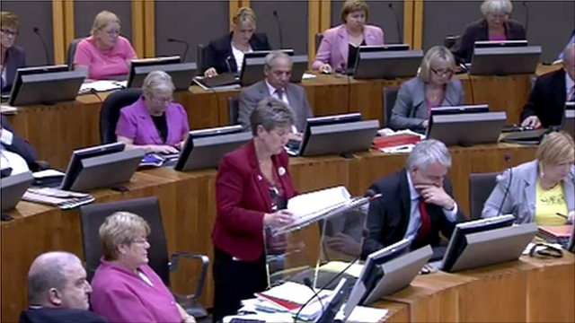 Jane Hutt's budget speech in the Senedd
