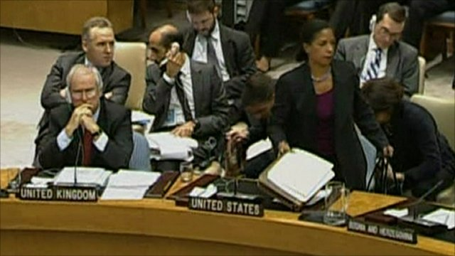 Susan Rice walks out of UN meeting