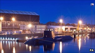 HMS Ambush is one of the Astute Class submarines being built at Barrow