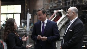 David Cameron visits Manchester's Museum of Science