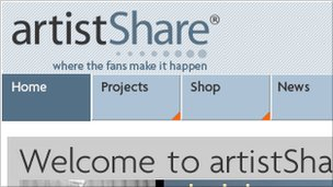 Screenshot of ArtistShare