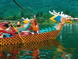 Dragon boaters in Taiwan