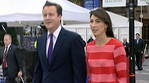 David Cameron and his wife Samantha