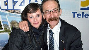 Pino Maniaci and his daughter Letizia
