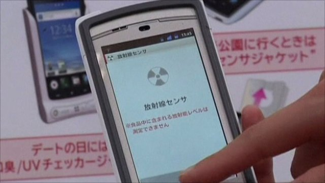 Smartphone with radiation monitoring cover