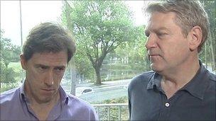 Rob Brydon and Kenneth Branagh