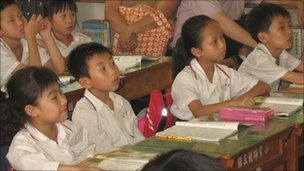 Taiwanese children at school